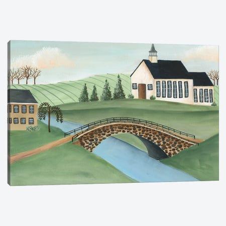Folk Church Scene I Canvas Print #REG320} by Regina Moore Art Print