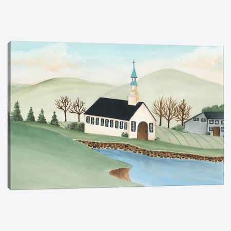 Folk Church Scene IV 3-Piece Canvas #REG323} by Regina Moore Art Print
