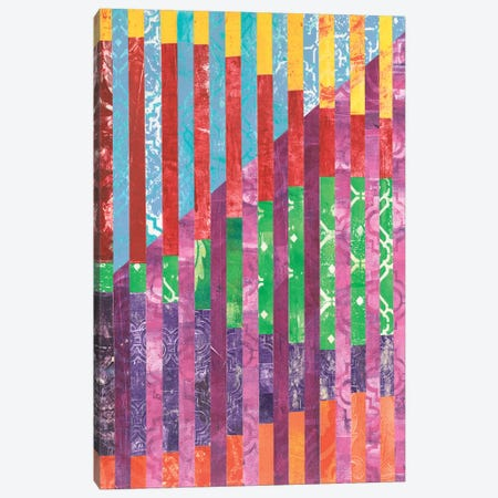 Quilted Monoprints IV 3-Piece Canvas #REG33} by Regina Moore Canvas Print