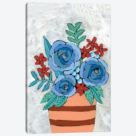 Bleu Blume I Canvas Print #REG344} by Regina Moore Canvas Artwork