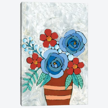 Bleu Blume II Canvas Print #REG345} by Regina Moore Canvas Art