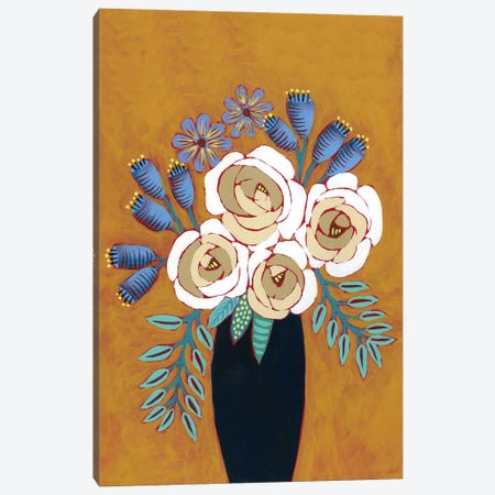 Neutral Blume I Canvas Print #REG348} by Regina Moore Canvas Art Print