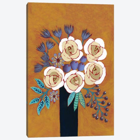 Neutral Blume II Canvas Print #REG349} by Regina Moore Canvas Print