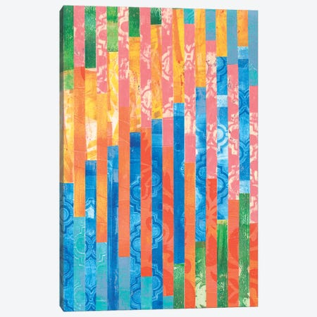 Quilted Monoprints V 3-Piece Canvas #REG34} by Regina Moore Canvas Wall Art