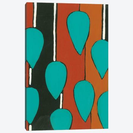 Rust & Teal Patterns V Canvas Print #REG357} by Regina Moore Canvas Print