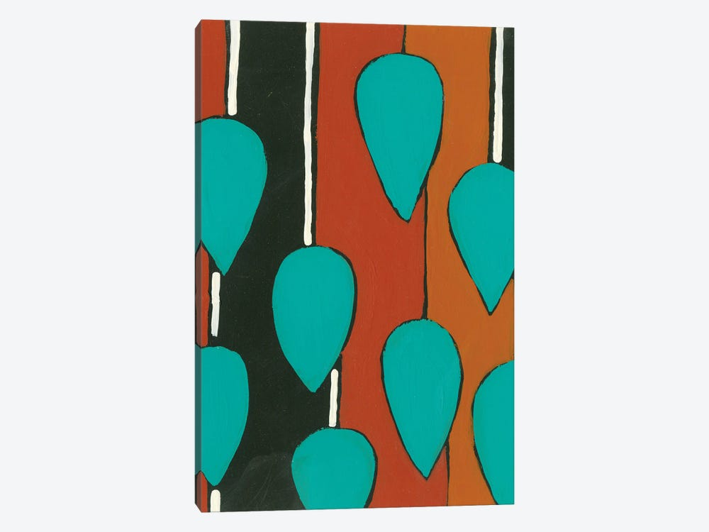 Rust & Teal Patterns V by Regina Moore 1-piece Art Print