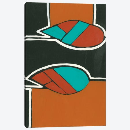 Rust & Teal Patterns VI Canvas Print #REG358} by Regina Moore Canvas Art