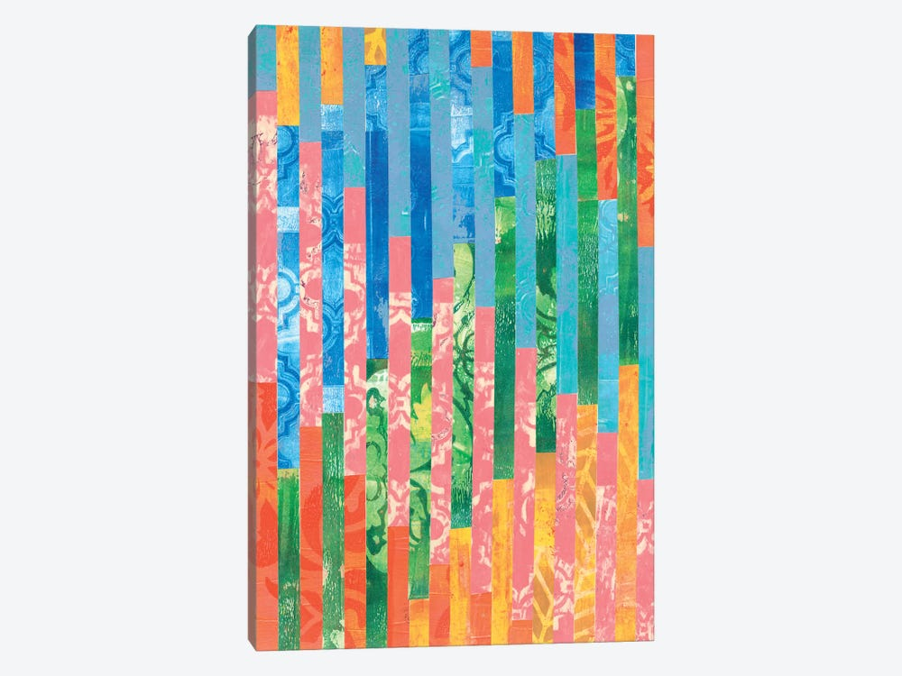 Quilted Monoprints VI by Regina Moore 1-piece Canvas Wall Art
