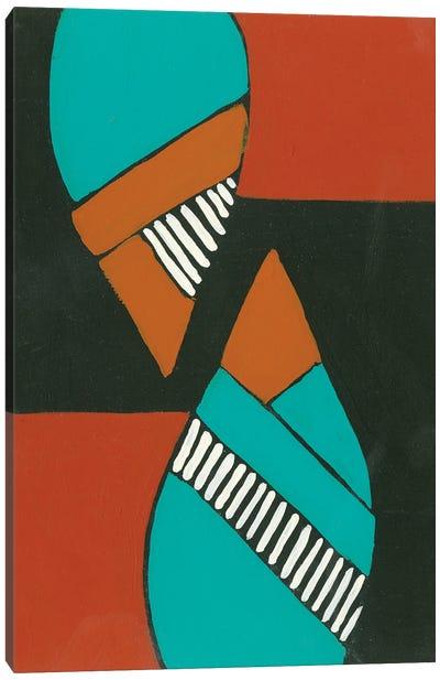 Rust & Teal Patterns VIII Canvas Art Print