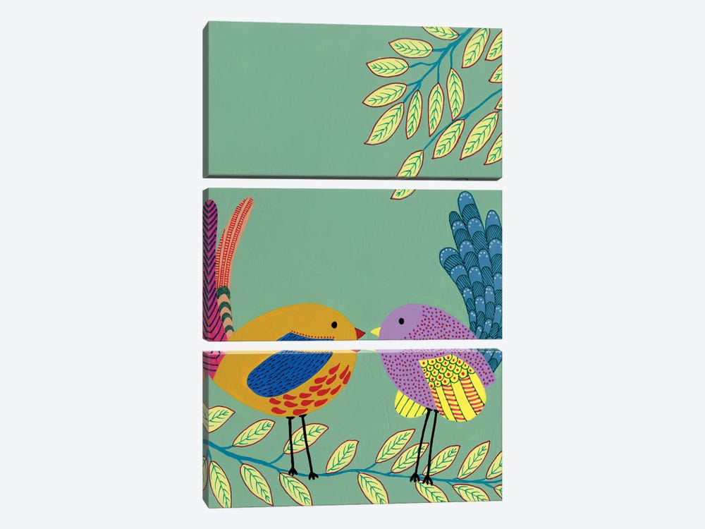 Patterned Feathers II by Regina Moore 3-piece Canvas Art