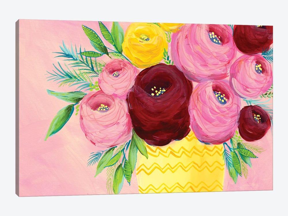 Pink Garden Flowers I by Regina Moore 1-piece Canvas Art