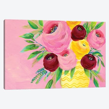 Pink Garden Flowers II Canvas Print #REG368} by Regina Moore Canvas Art Print