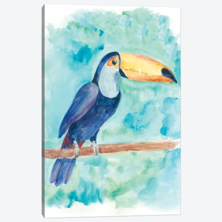 Sweet Tropical Bird I Canvas Print #REG36} by Regina Moore Canvas Artwork