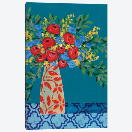 A Gathering of Flowers II Canvas Print #REG370} by Regina Moore Canvas Wall Art