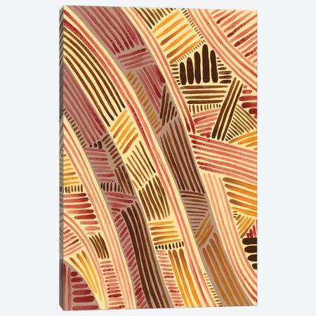 Bands of Pattern I Canvas Print #REG373} by Regina Moore Canvas Artwork