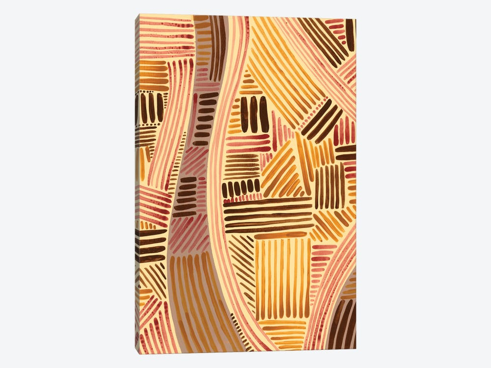 Bands of Pattern II by Regina Moore 1-piece Canvas Wall Art