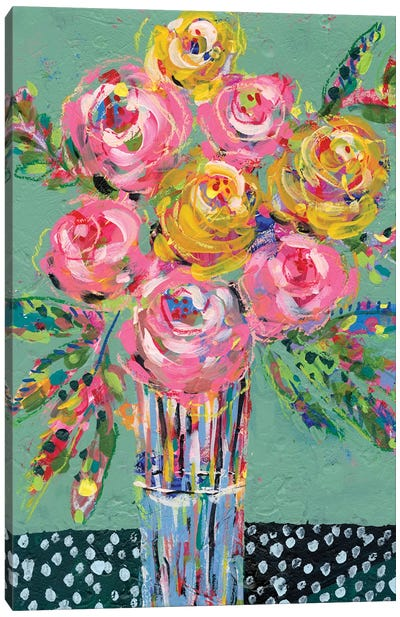 Bright Colored Bouquet I Canvas Art Print