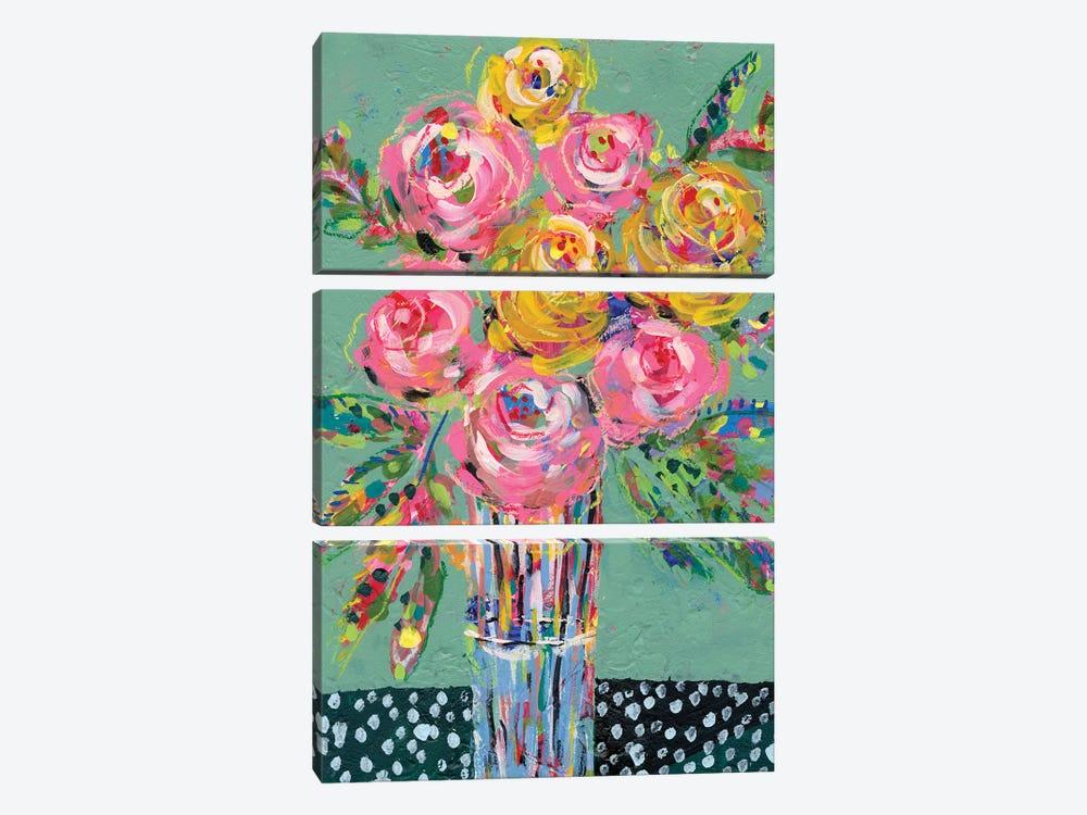 Bright Colored Bouquet I by Regina Moore 3-piece Canvas Art Print