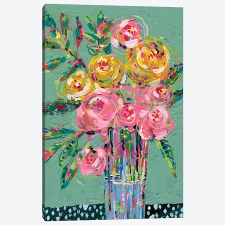 Bright Colored Bouquet II Canvas Print #REG376} by Regina Moore Canvas Print