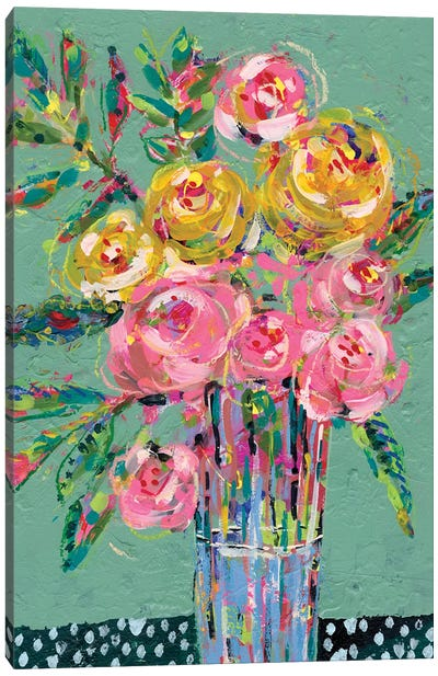 Bright Colored Bouquet II Canvas Art Print