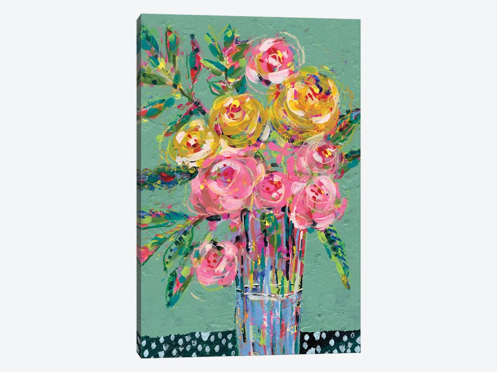 Bright Colored Bouquet II 1-piece Canvas Art