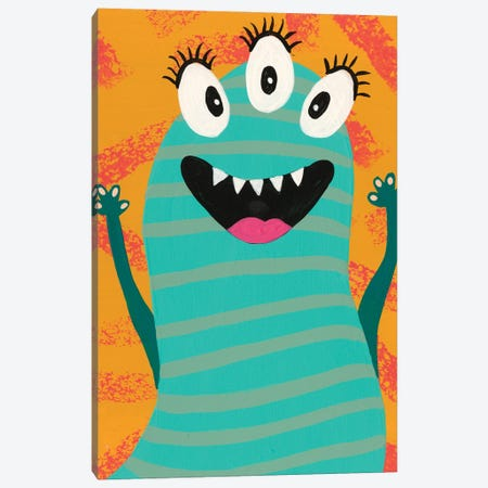 Happy Creatures V Canvas Print #REG386} by Regina Moore Canvas Wall Art