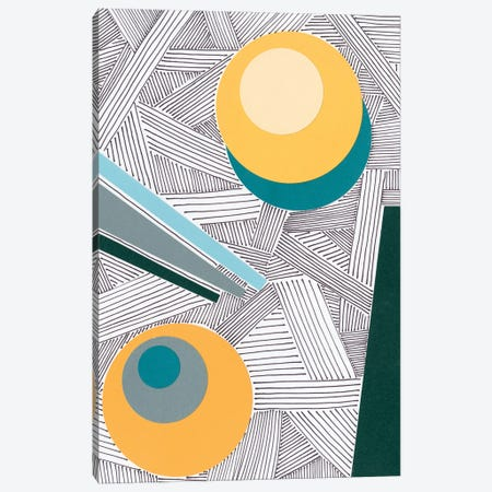 Lines and Shapes II Canvas Print #REG393} by Regina Moore Canvas Wall Art