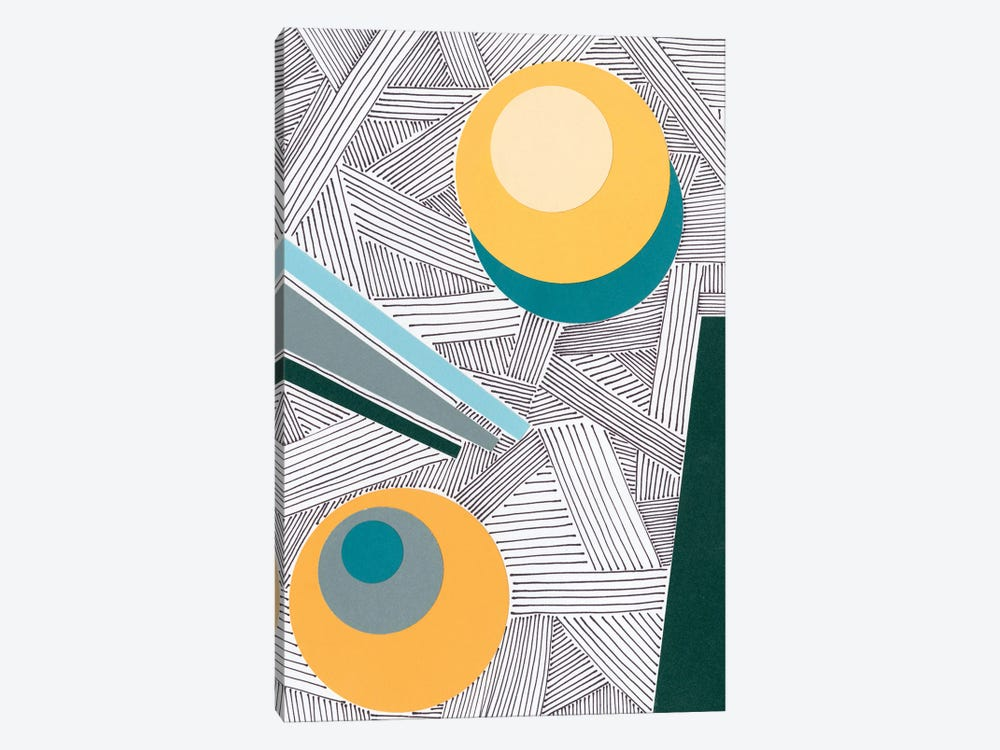 Lines and Shapes II by Regina Moore 1-piece Canvas Print