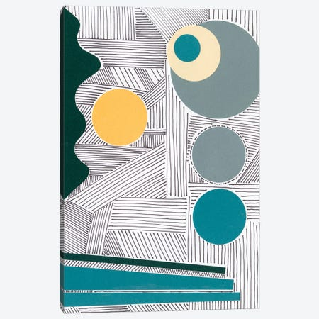 Lines and Shapes III Canvas Print #REG394} by Regina Moore Canvas Art Print