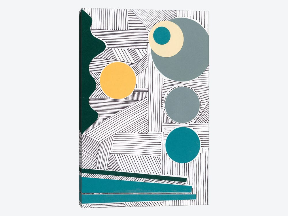 Lines and Shapes III by Regina Moore 1-piece Canvas Wall Art