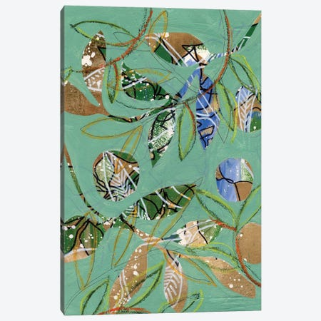Nature on Sage I Canvas Print #REG395} by Regina Moore Canvas Print