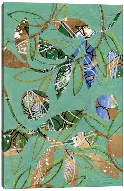 Nature on Sage I Canvas Art Print