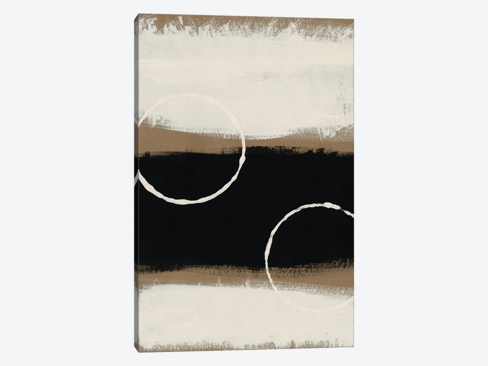 Neutral Rings I by Regina Moore 1-piece Canvas Print