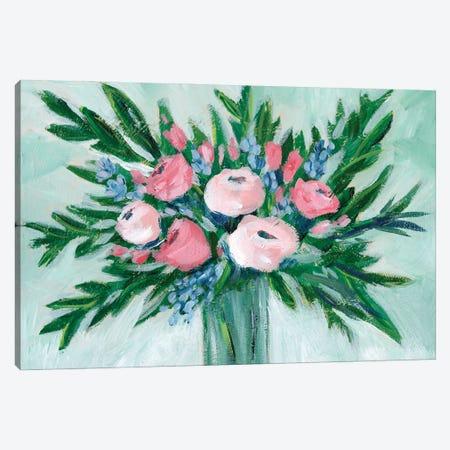 Pink Rosette Bouquet I Canvas Print #REG399} by Regina Moore Canvas Artwork