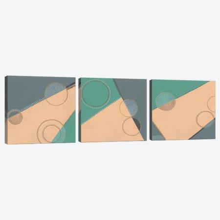Geometrica Triptych Canvas Print Set #REG3HSET001} by Regina Moore Canvas Wall Art