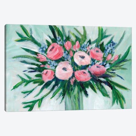 Pink Rosette Bouquet II Canvas Print #REG400} by Regina Moore Canvas Art