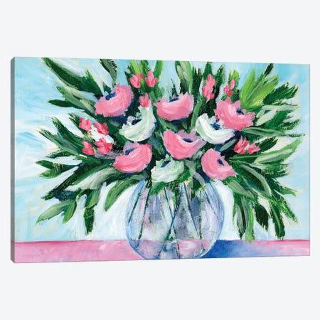 Rosy Bouquet I Canvas Print #REG401} by Regina Moore Canvas Artwork