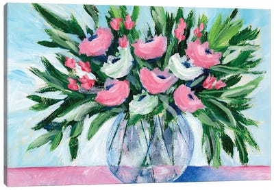 Rosy Bouquet I Canvas Art Print