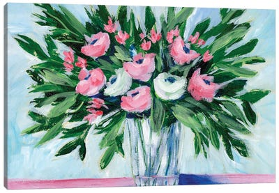 Rosy Bouquet II Canvas Art Print