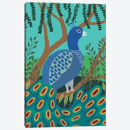 Dandy Peacock I Canvas Print #REG406} by Regina Moore Canvas Print