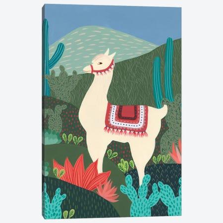 Desert Llama II Canvas Print #REG409} by Regina Moore Canvas Artwork