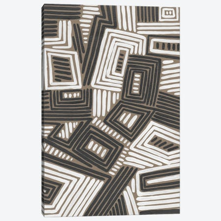 Abstract Maze IV Canvas Print #REG423} by Regina Moore Canvas Wall Art