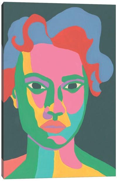 Colorblock Face II Canvas Art Print