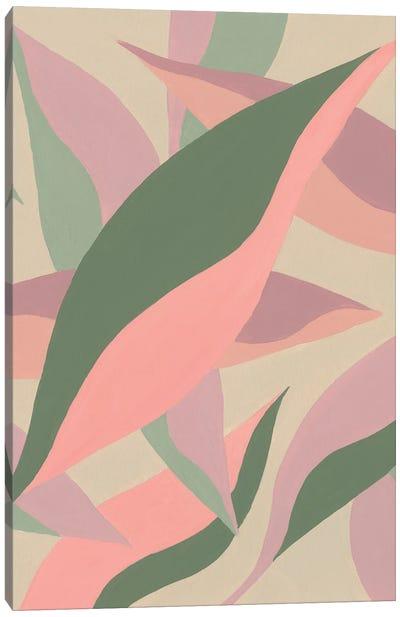 Elongated Leaves I Canvas Art Print