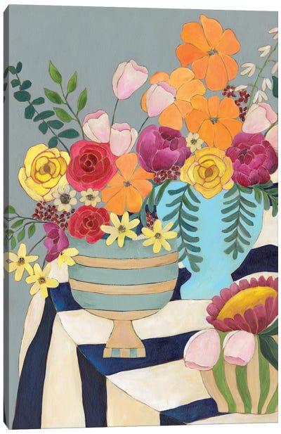 Striped Tablecloth I Canvas Art Print