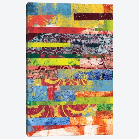 Monoprint Collage I Canvas Print #REG4} by Regina Moore Canvas Wall Art