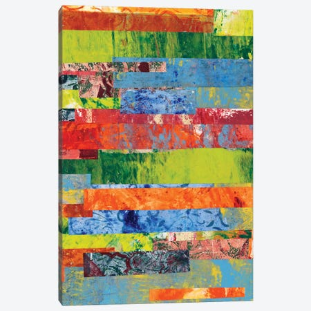 Monoprint Collage II Canvas Print #REG5} by Regina Moore Canvas Artwork