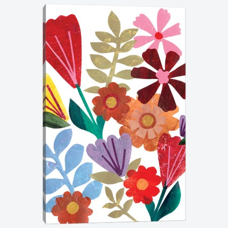 Bright Floral I Canvas Print #REG62} by Regina Moore Canvas Artwork