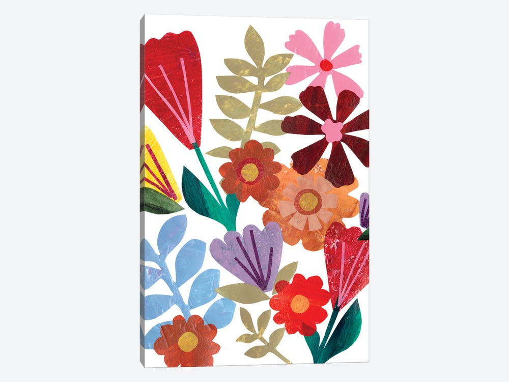 Bright Floral I by Regina Moore 1-piece Canvas Wall Art