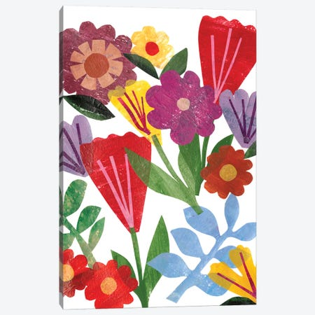 Bright Floral II Canvas Print #REG63} by Regina Moore Canvas Wall Art